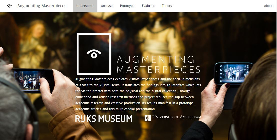 Augmenting Masterpieces nominated for Museums & the Web award